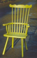 Welsh stick chair with homemade paint.