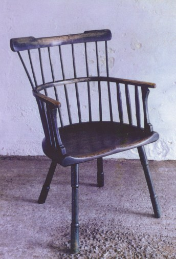 A chair based on drawings of Bodleian Library chairs.
