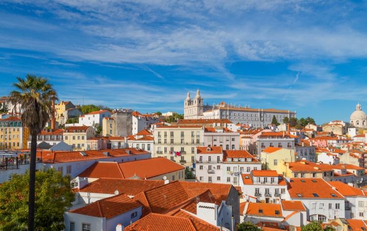 Foto do centro de Lisboa onde tem a maior concentração de Alojamento Local