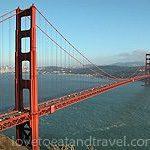 San Francisco - Golden Gate Bridge view from Marin Headlands