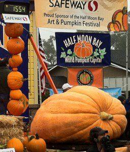 Giant Pumpkin at Half Moon Bay's World Championship Pumpkin Weigh Off