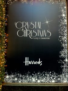 Crystal-Chrismas Window Displays at Harrods in London