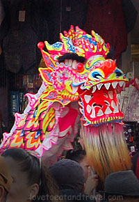 Gum Lung Golden Dragon brings luck, longevity and prosperity, Chinatown, San Francisco