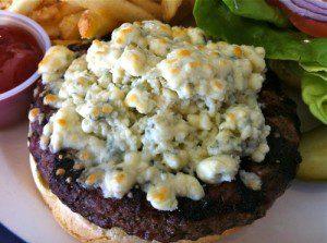 Bleu Cheese Angus Burger at The Encounter Restaurant at LAX Airport, Los Angeles, CA
