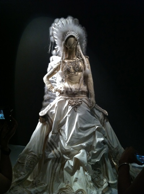 """""""La mariee"""" Wedding Gown on display at Jean Paul Gaultier exhibit at the de Young in San Francisco"""