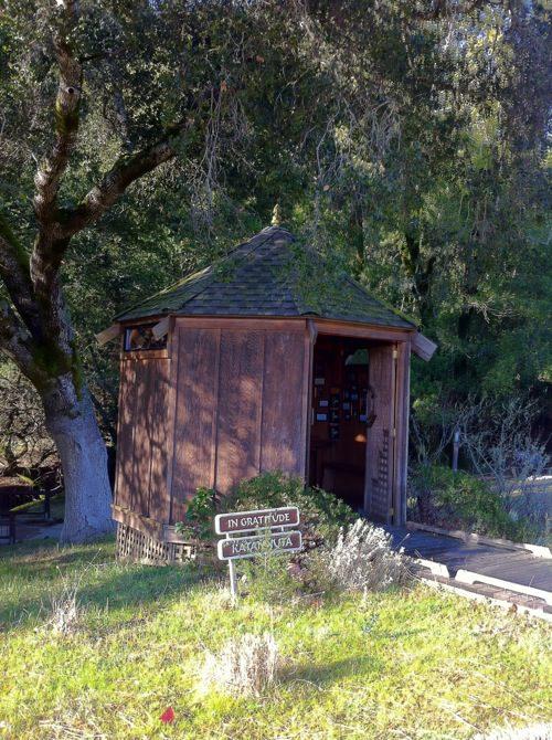 Gratitude Hut at Spirit Rock Meditation Center, Marin, CA - © LoveToEatAndTravel.com