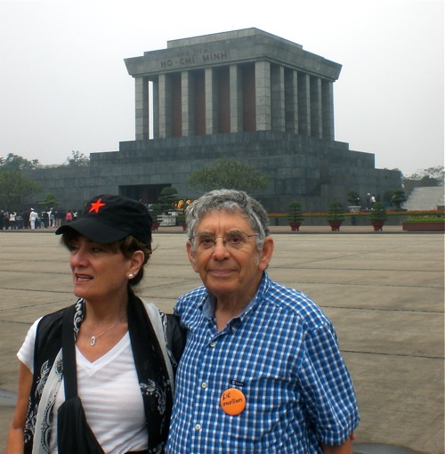 Bonnie & Bob at Ho Chi Minh Mausoleum, Hanoi, Vietnam - © B. Miller