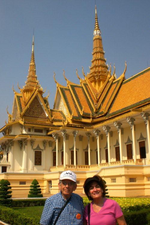 Bob & Bonnie at the Royal Palace in Phnom Penh, Cambodia - © B. Miller