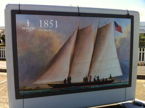 """Schooner """"America"""" in 1851 – © LoveToEatAndTravel.com"""