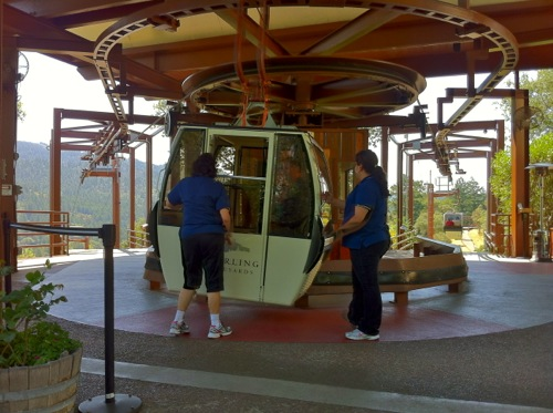 Gondola at Sterling Vineyards in Calistoga, Napa Valley - © LoveToEatAndTravel.com