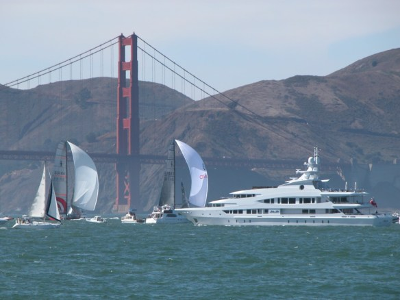 Sailing in San Francisco Bay - Golden Gate Bridge, Sailboats & MegaYacht - All Rights Reserved Love to Eat and Travel