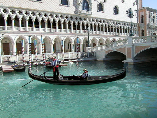 Romantic Gondola Rides at The Venetian Las Vegas © LoveToEatAndTravel.com