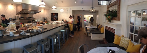 Bumble restaurant open kitchen and dining area - Los Altos, CA © LoveToEatAndTravel.com