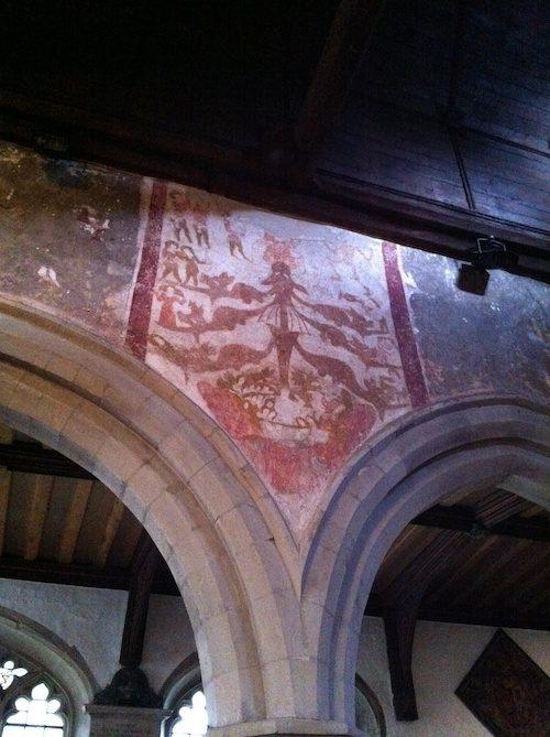 15th century wall paintings at St. Martin's Church in Ruislip – © LoveToEatAndTravel.com