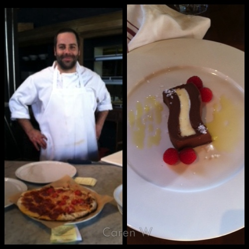 La Bicyclette Chef, thin-crust pizza and yummy dessert - Carmel, CA - © Caren W