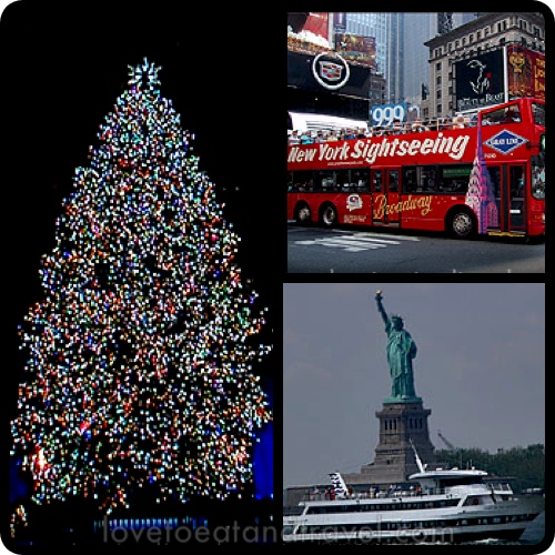 Rockefeller Center Holiday Tree, Hop-On-Hop-Off Tour Bus, Statue of Liberty, NYC – © LoveToEatAndTravel.com