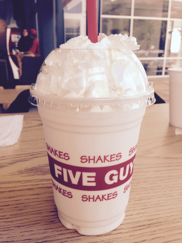 Five Guys Milkshake with Whipped Cream – © LoveToEatAndTravel.com