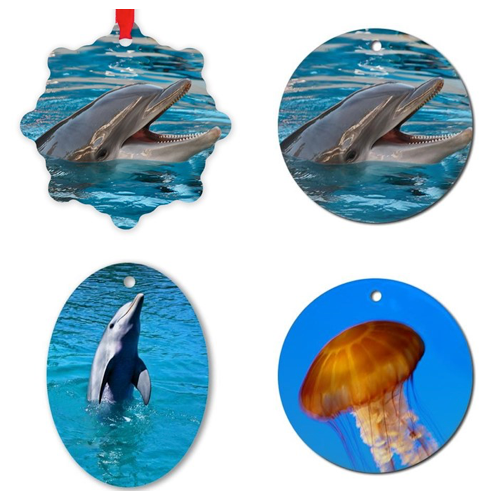 Dolphin and Jellyfish Ornaments – © LoveToEatAndTravel.com