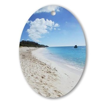 Bermuda Beach - our top-selling travel ornament – © LoveToEatAndTravel.com