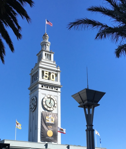 Ferry Building across from Super Bowl City, San Francisco - © LoveToEatAndTravel.com