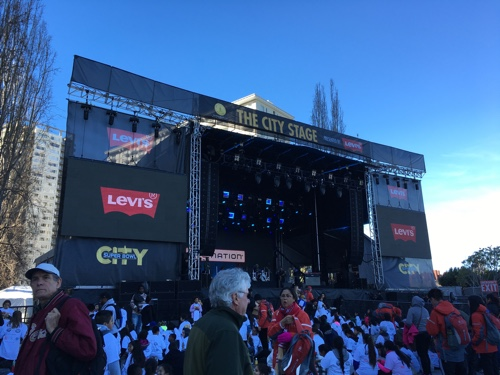 The City Stage at Super Bowl City, San Francisco - © LoveToEatAndTravel.com