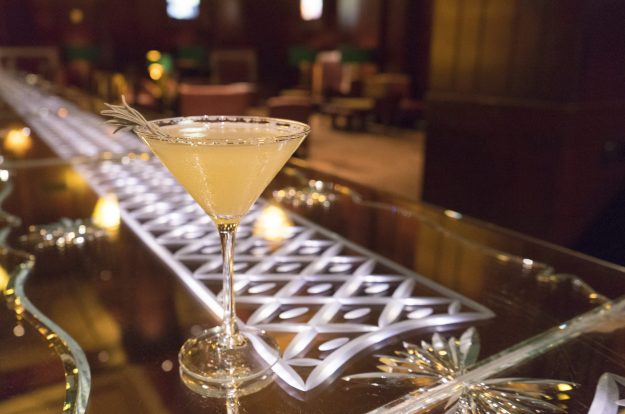 Peerless Purple Cocktail, Redwood Room, Clift Hotel, SF - photo credit: CLIFT Hotel