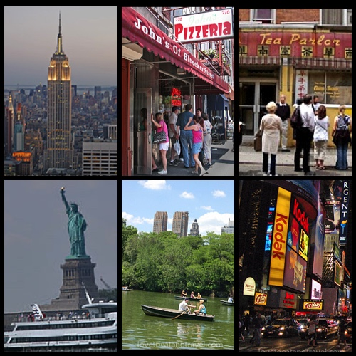 Empire State Building, Statue of Liberty, Greenwich Village, Chinatown, Central Park Lake and Times Square, New York City – © LoveToEatAndTravel.com