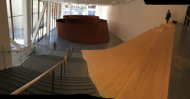 "Richard Serra's sculpture ""Sequence"" at SFMOMA - photo © Love to Eat and Travel"