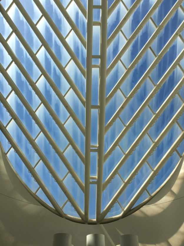 Looking up at Atrium Oculus at SFMOMA - photo © Love to Eat and Travel