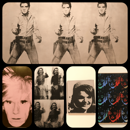 Warhol Collection (Elvis, Warhol self-portrait, Liz Taylor, Jackie Kennedy and Marilyn Monroe) at SFMOMA – © Andy Warhol
