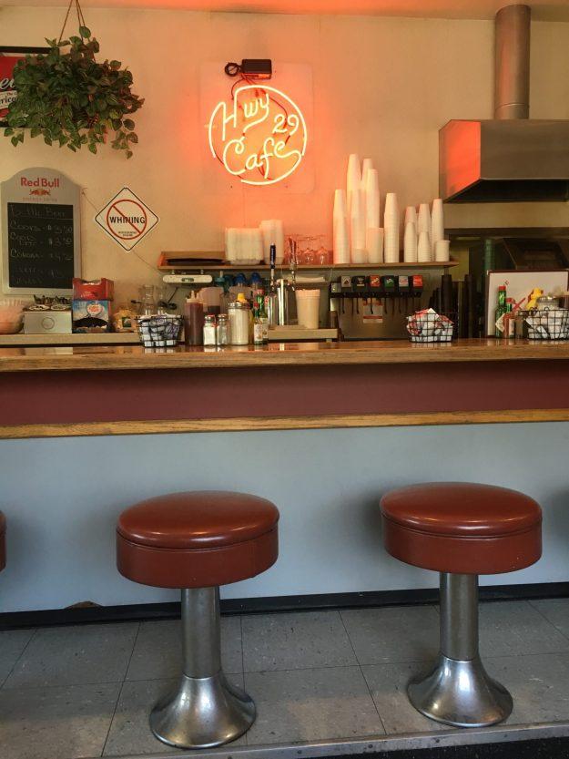 Counter seating at Hwy 29 Cafe – © LoveToEatAndTravel.com