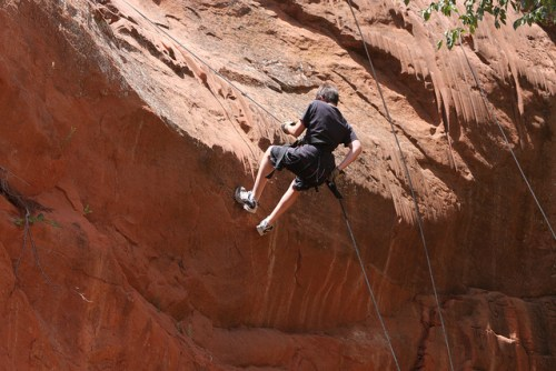 Rappelling - photo by Oakridge Camp & Retreat Center