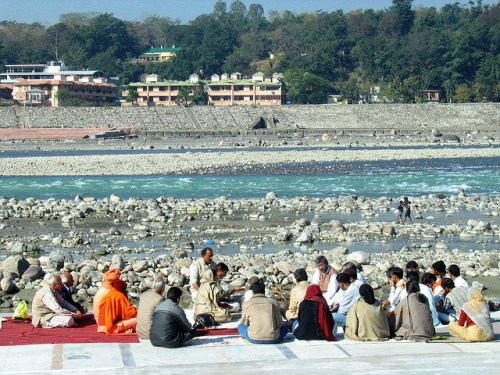 Yoga in Rishikesh - photo by Ajay Tallam
