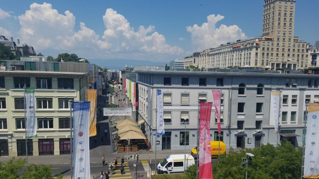 Lausanne Quartier du Flon during the day - Credit: Deborah Grossman