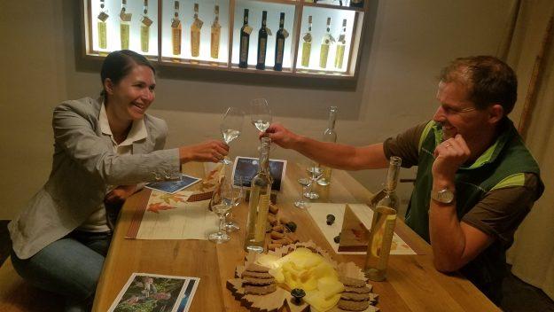 Visp Johanneli Fi wine tasting with owner Rainer Zimmermann - Credit: Deborah Grossman