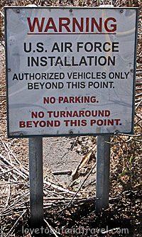 Area 51 warning sign, Nevada