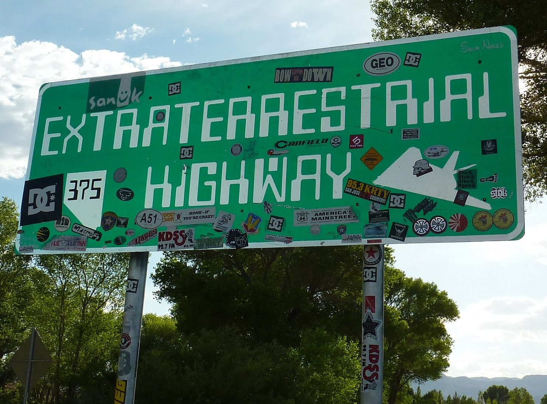 Extraterrestrial Highway, Hwy 375, near Rachel, Nevada