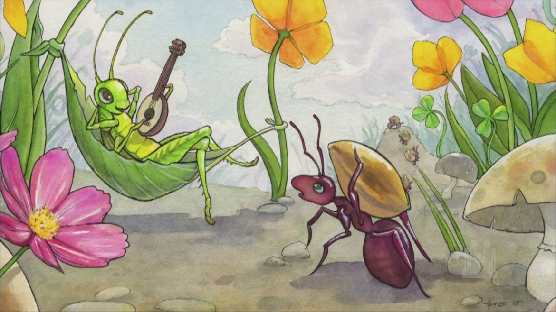 La cicala e formica favola di esopo lucca