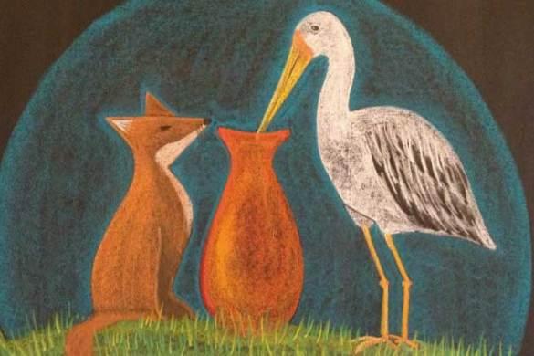 La volpe e la cicogna - favole di Fedro