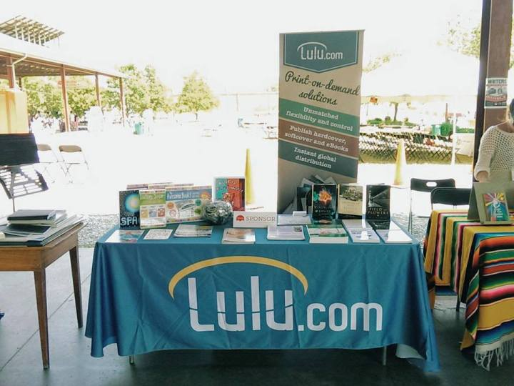 Lulu Read Local Book Festival Table and banner