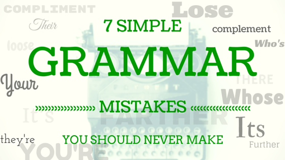 Don't make these grammar mistakes