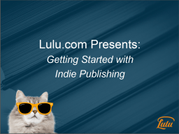 Getting Started With Indie Publishing