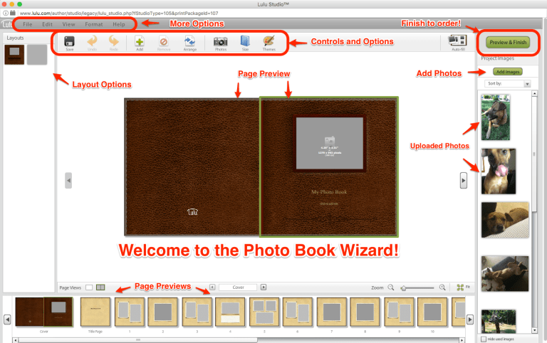 Anatomy of Photo Book Wizard