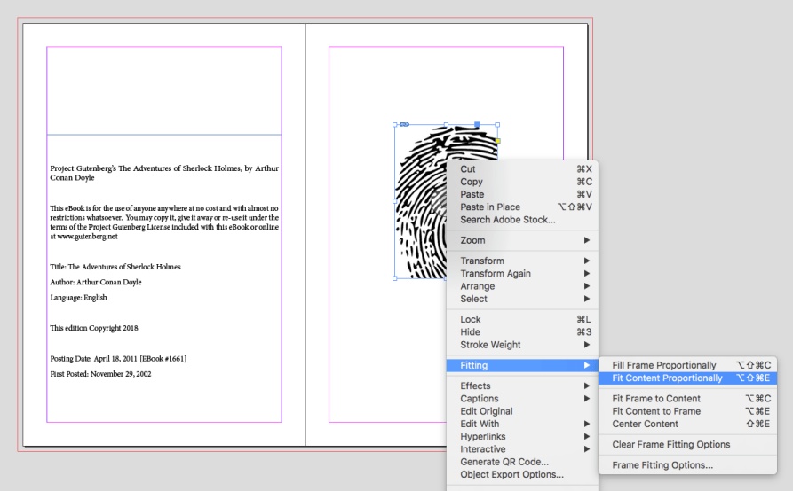 Using InDesign's command to Fit Content Proportionally within a pre-sized frame