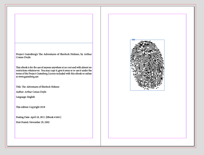 Final sizing and placement of image in InDesign