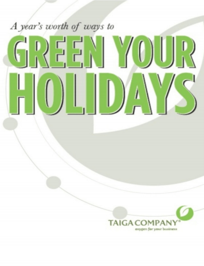 """""""Green Your Holidays"""" book cover"""