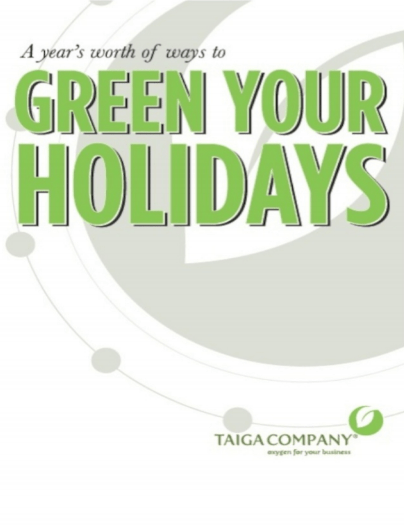 """Green Your Holidays"" book cover"