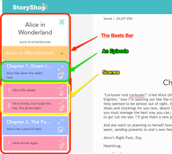 Story Shop Writer in App Beats Bar breakdown