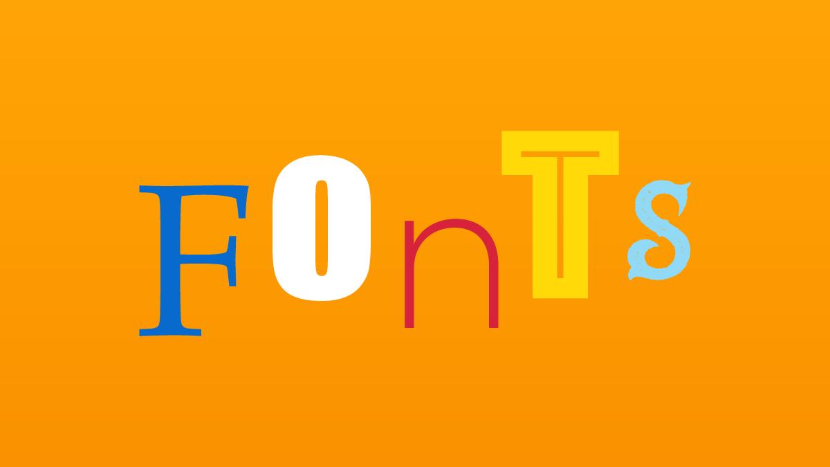 Font Choices - Blog Post Header Image