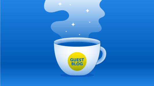 Guest Blogger Header Graphic Ocean Blue
